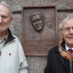 To af de få nulevende BOPA-sabotører, Pierre Honoré (tv) og Ejler Borch